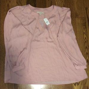 Loft silk top; Size M